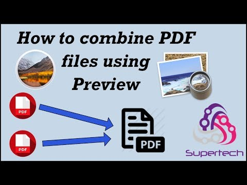 How to combine PDF files using Preview