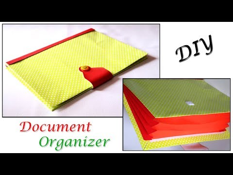 DIY Document Organizer | Back to School Supplies | Cardboard Crafts | Little Crafties