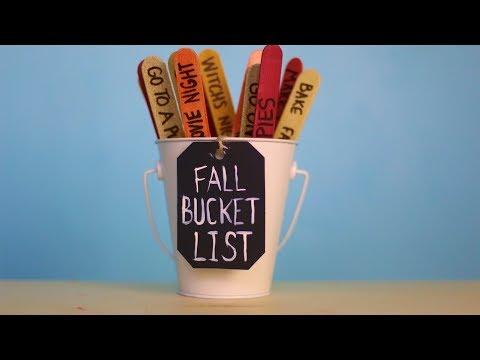 How To Make A Fall Bucket List!!!