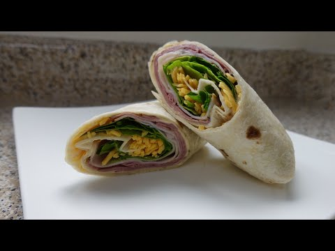 Roast Beef and Turkey  Sandwich Wrap Quick Lunch