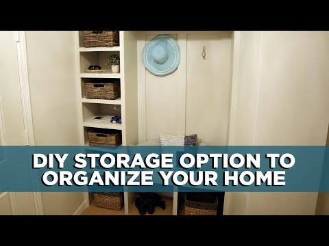 How to Build a DIY Drop Zone Storage Bench