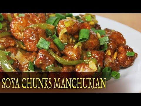 Soya Chunks Manchurian Recipe | Healthy Vegetarian Indo Chinese Starter Recipe | Kanak's Kitchen