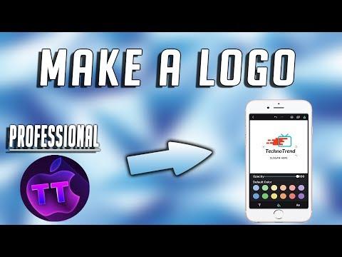 How To Make  A Professional Logo On iPhone Free!  Make YouTube Logos Free!  No Photoshop!!!!