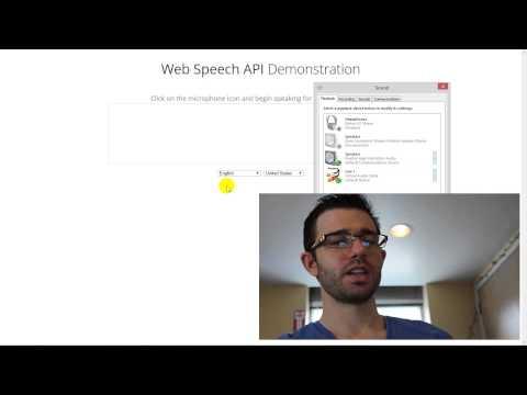 Speech to Text with Google Web Speech API