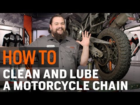 How To Clean & Lube Your Motorcycle Chain at RevZilla.com