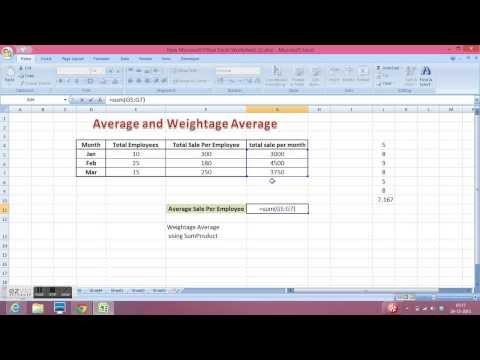 How to calculate Weighted Average in Excel - Youtube