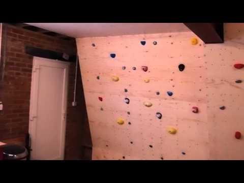Jon's Woody (garage climbing wall)