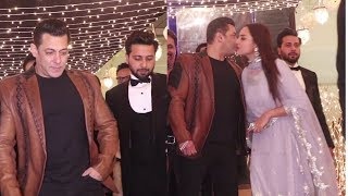 Salman Khan & Sonakshi Sinha Spotted At Wedding Party Of His Friend