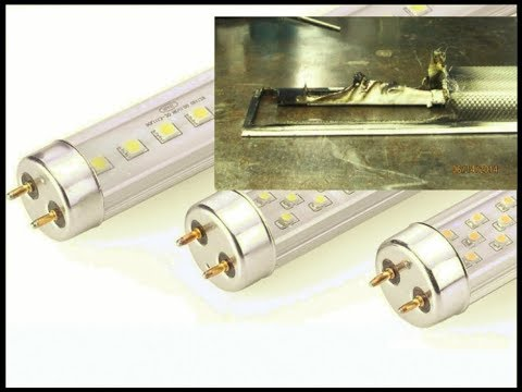 How To Retrofit A Fluorescent T8 Light Fixture To LED Without Causing A Fire !!!
