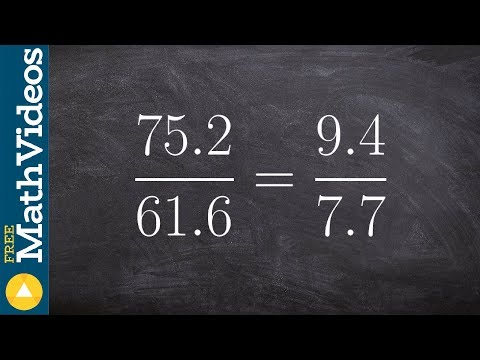 Algebra 1 - How to determine if two ratios create a proportion 75.2/61.6 = 9.4/7.7