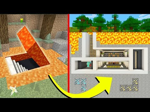 Minecraft Tutorial: How To Make A Hidden Underground Lava Base