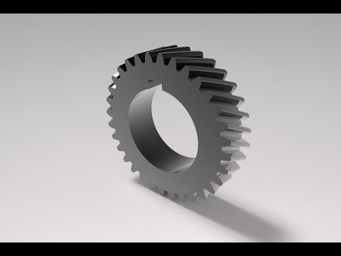 How to create a helical gear in creo part 2