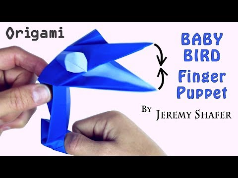 Origami Baby Bird Finger Puppet