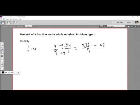 Product of a fraction and a whole number - Problem type 1