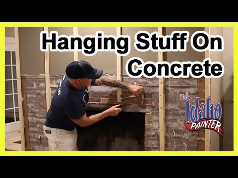 How To Hammer A Nail In Concrete or Brick.  How to hang a picture.