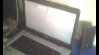 White screen on toshiba satellite pro .avi