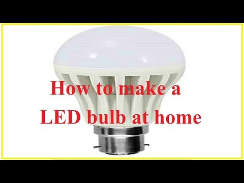 Make a LED bulb using mobile phone charger at home