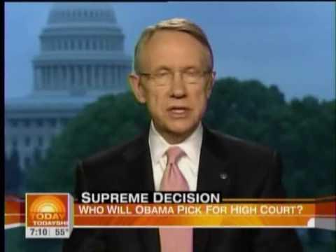 Sen. Harry Reid on President Obama's Supreme Court Justice selection process