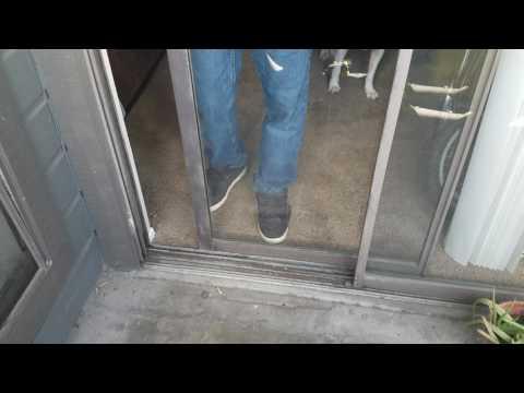 Installing a sliding door back on track
