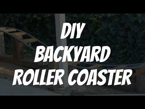 DIY Backyard Roller Coaster (LEARN HOW TO BUILD A PVC ROLLER COASTER)