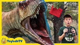 Download Dinosaurs & Park Rangers Face Off! Giant T-Rex Dinosaur Adventure & Jurassic World Surprise Toys Video