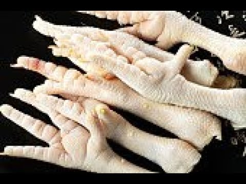 How to cut the nails of Chicken Paws (feet) before cooking