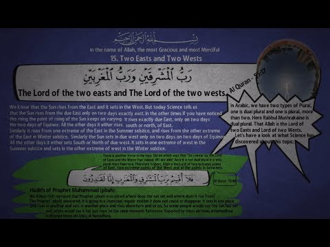15. Two Easts and Two Wests - From Holy Quran the Book of Allah
