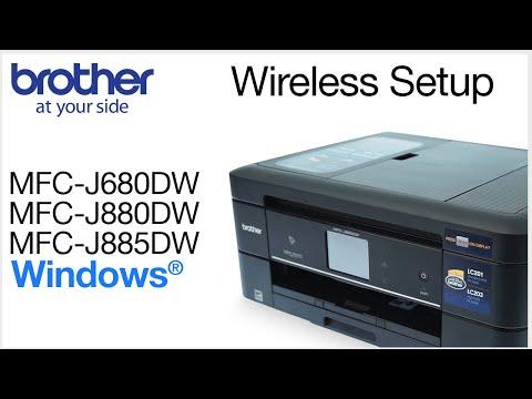 MFCJ680DW MFCJ880DW MFCJ885DW – wireless setup - Windows® Version