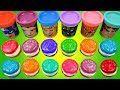 Making 3 Ice Cream Out Of Play Doh Cookie Molds Learn Colors Surprise Toys Marvel Disney Frozen