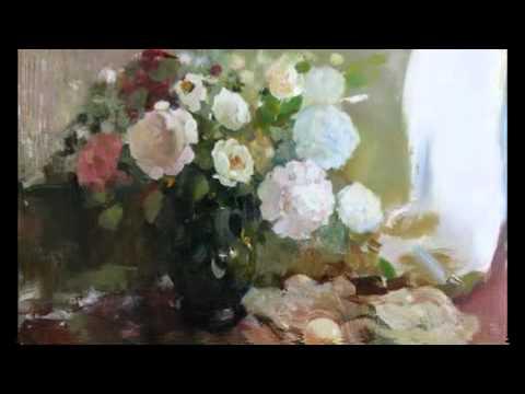 Watercolor& oil color painting & romantic guitar - Spanish Romance