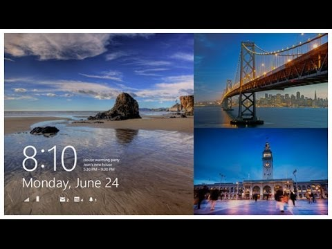 How To Change Lock Screen In Windows 8 1 With Slide Show Feature
