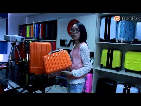 2pcs ABS+pc luggage set-Resena luggage bag factory in China