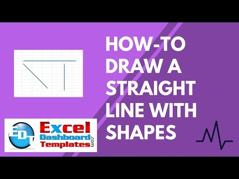 How-to Draw a Straight Line with Excel Shapes