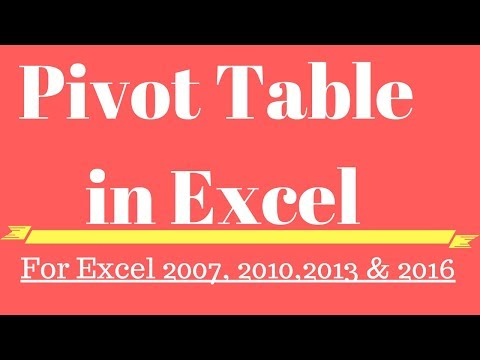 Pivot Table in Excel Hindi ☑️