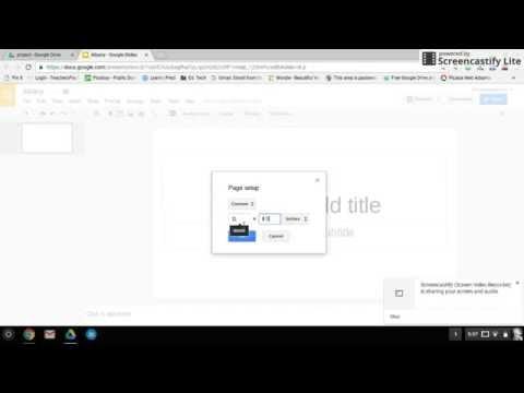 Brochure Template Set Up- Google Slides