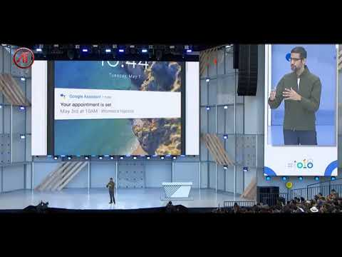 Google Assistant making Restaurant reservations | Google IO 2018 | Sundar Pichai