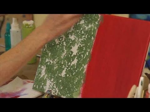 How to Sponge Paint | Acrylic Painting