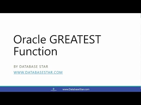 Oracle GREATEST Function