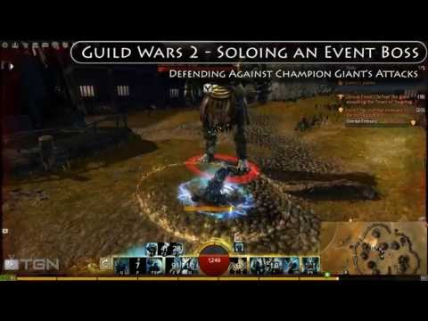 GW2 - Soloing Event Boss (Champion Giant) as Guardian
