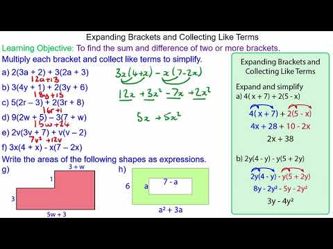 Expanding Brackets and Collecting Like Terms