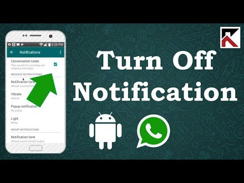 How To Turn Off WhatsApp Notifications Android 2018