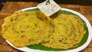 அடை தோசை இப்படி செய்யுங்க அசத்தலாக இருக்கும்/Adai dosai recipe tamil/protein rich mixed dal dosa