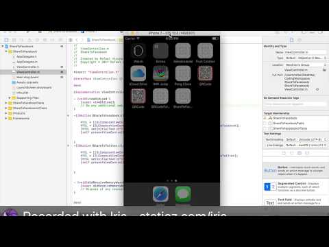 Integrating Facebook and Twitter Sharing in Xcode 8