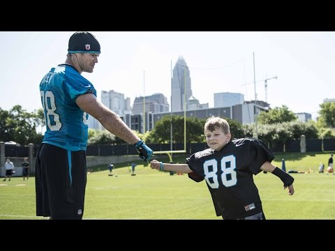 Panthers grant wish for 7-year-old Parker Cowherd
