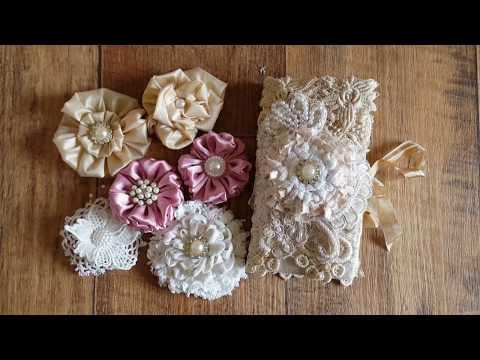 Needle Book & Handmade Flowers