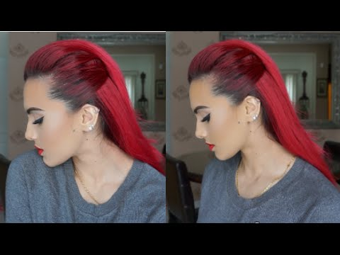 Slick back hair tutorial
