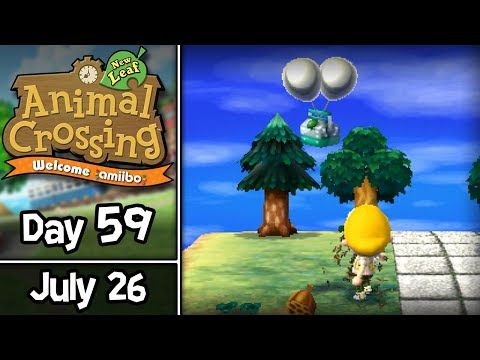 Animal Crossing: New Leaf, Day 59: Bee Sting Sling! • July 26 • Welcome amiibo Update