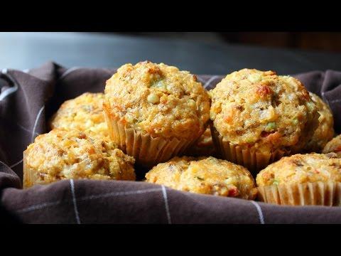 Sausage & Sweet Corn Muffins - Sausage Stuffed Corn Muffin Recipe