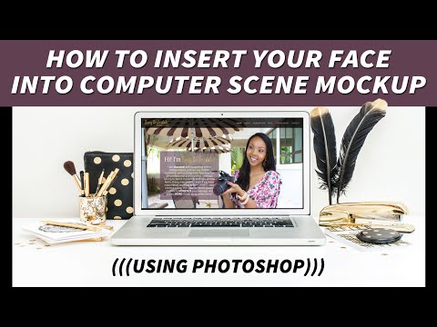 How to Insert Your Image Into Computer Scene Mockup Using Photoshop