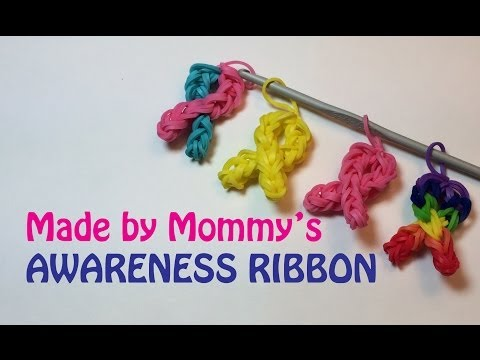Make Your Own Awareness Ribbon Charm Without the Rainbow Loom